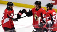 Mike Hoffman, Matt Duchene and Erik Karlsson