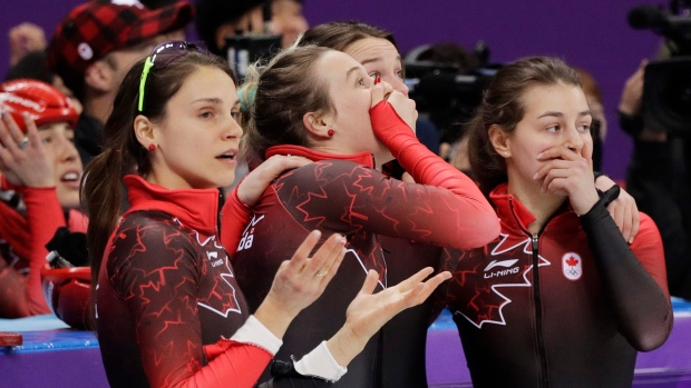 Canadian short track skaters