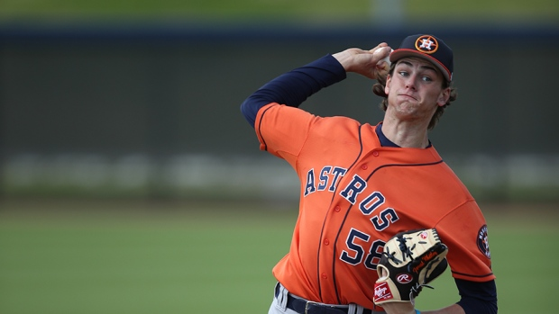 Astros top pitching prospect Forrest Whitley suspended 50 games