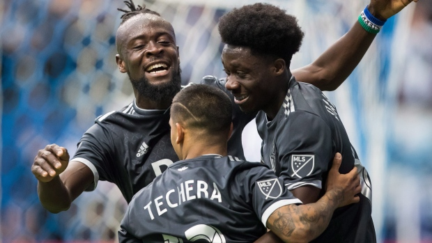 Alphonso Davies, Whitecaps celebrate
