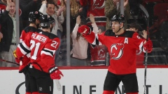 Taylor Hall and Devils Celebrate