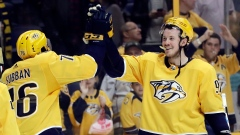 P.K. Subban and Ryan Johansen