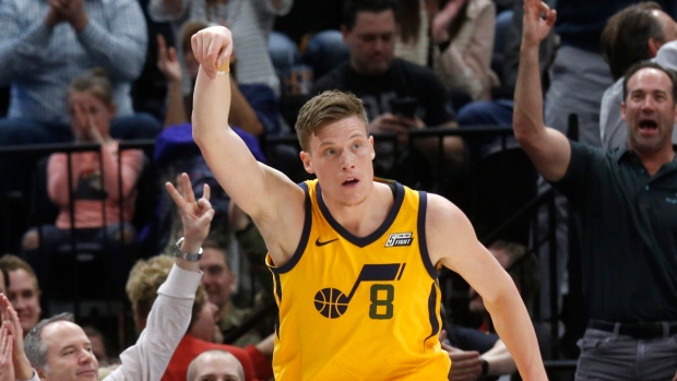 5e46b67ca0d Hot start propels Jazz to win over Pistons - TSN.ca