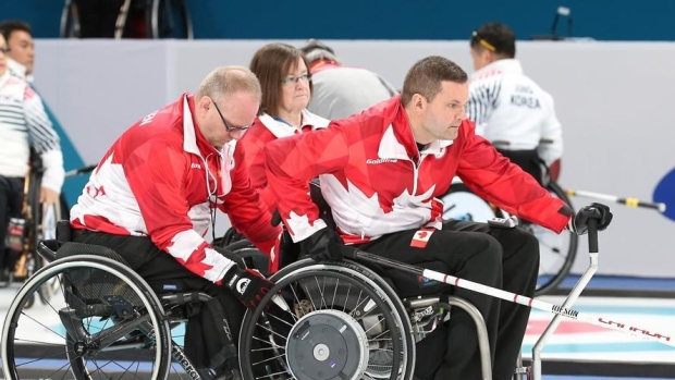 Canadian wheelchair curling team