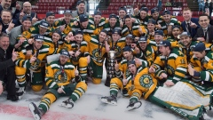 University of Alberta Golden Bears celebrate