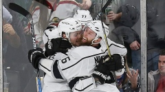 Jeff Carter and Kings Celebrate
