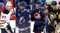 Connor McDavid, Nikita Kucherov, Nathan MacKinnon and Evgeni Malkin