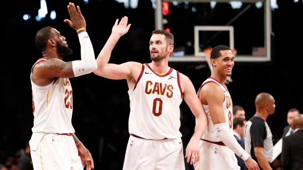 97f357da325 LeBron James, Kevin Love and Jordan Clarkson