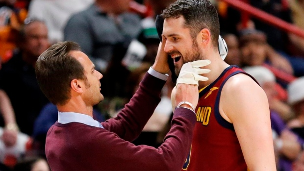 Kevin Love in National Basketball Association concussion protocol, out Wednesday at Hornets