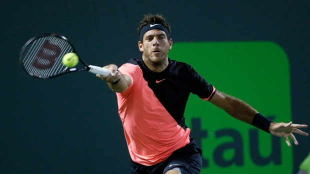Del Potro beats Raonic to reach Miami Open semis