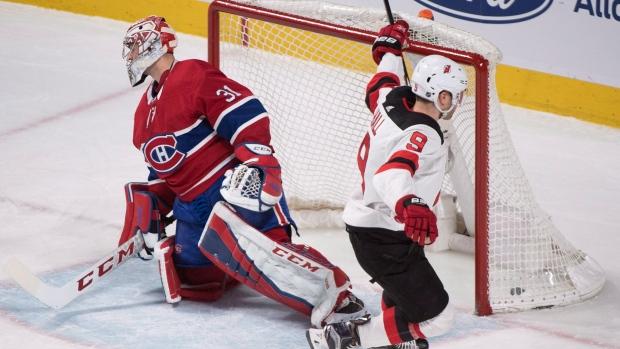 4fcdb0fee35 Hall scores short-handed winner to lift Devils over Canadiens - Article -  TSN