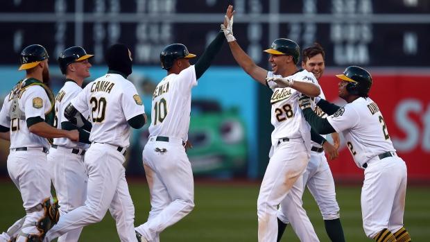 Oakland-athletics-celebrate