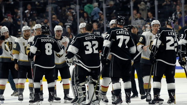Golden Knights, Kings handshake line