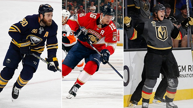 Ryan O'Reilly, Aleksander Barkov and William Karlsson