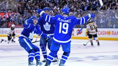 Plekanec, Marner and Zaitsev celebrate