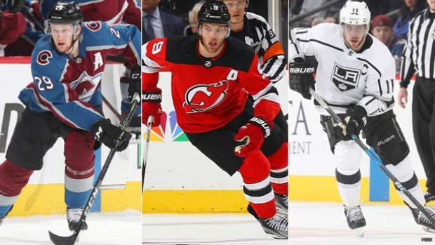 Nathan MacKinnon/Taylor Hall/Anze Kopitar