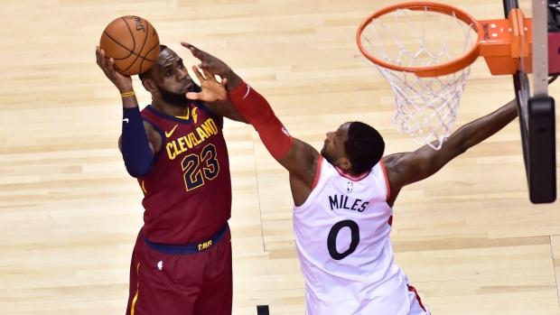 eb57c0662 LeBron hits triple-double as Cavaliers outlast Raptors to take Game 1 -  TSN.ca