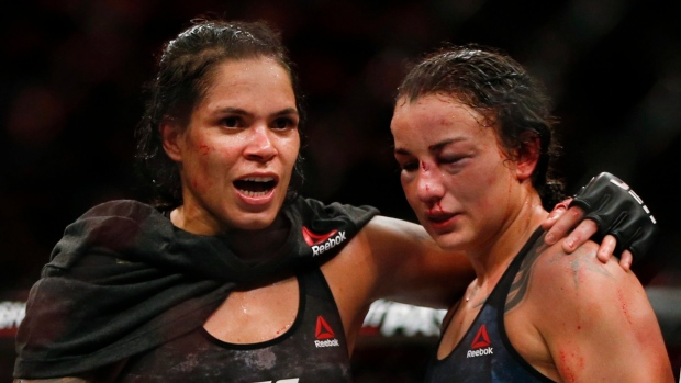 Amanda Nunes and Raquel Pennington