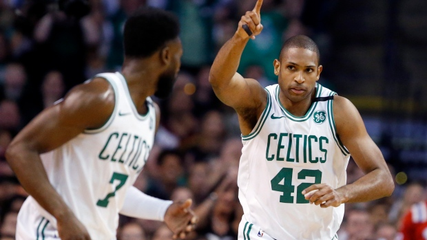 official photos 63bf1 f2589 Brown, Horford lead Celtics past Cavs as LeBron struggles ...