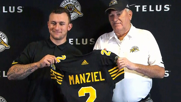 b65d85609 Heisman winner Manziel signs with Tiger-Cats - TSN.ca