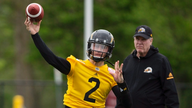 a7f05134d Manziel has first practice with Tiger-Cats - TSN.ca
