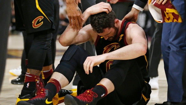 5090ead71944 Cavs  Love exits Game 6 with head injury. The Canadian Press. Kevin Love