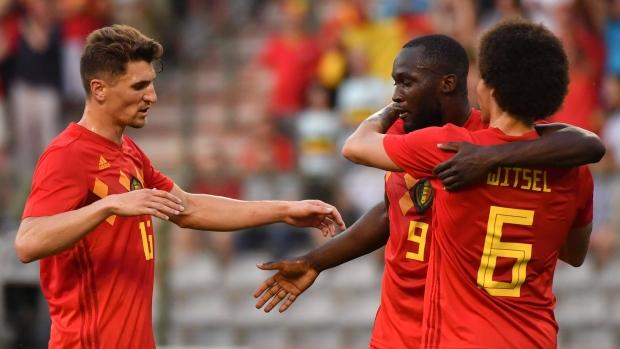 Belgium celebrates goal