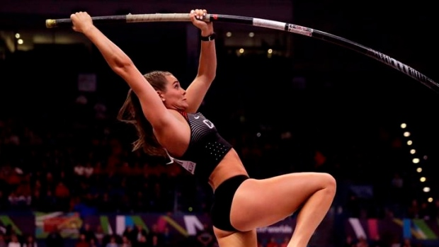 Canada's Alysha Newman sets national record to claim first place in pole vault - TSN.ca