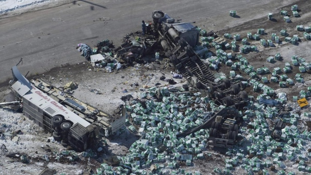 Saskatchewan RCMP preparing to talk to Crown about charges in Broncos bus crash Article Image 0