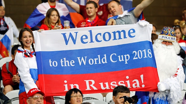 Russian fans at 2018 World Cup
