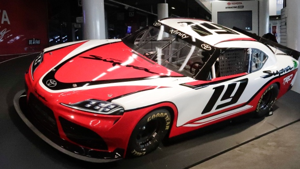 toyota unveils supra to race in nascar xfinity series in. Black Bedroom Furniture Sets. Home Design Ideas