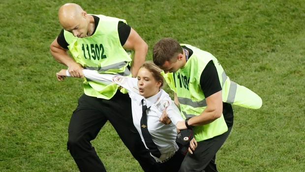 World Cup protestor