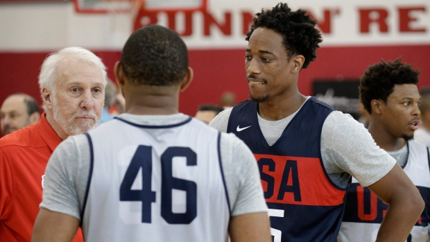 Gregg Popovich and DeMar DeRozan