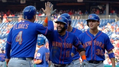 Jose Bautista and New York Mets Celebrate