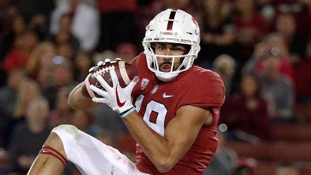 Arcega Whiteside Helps No 13 Stanford Down San Diego