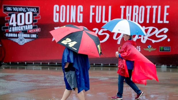 Rain washes out NASCAR, PGA Tour events