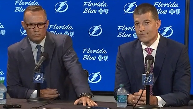 Steve Yzerman and Julien BriseBois