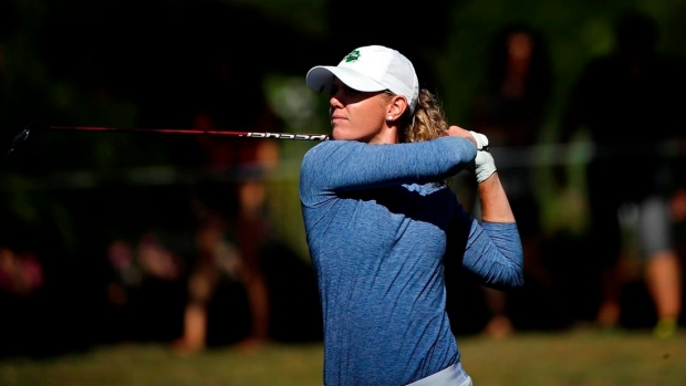 NDSU alum Olson takes two-stroke lead at LPGA major