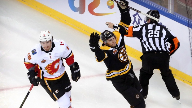 c258bb364 Bruins down Flames to sweep China series - TSN.ca