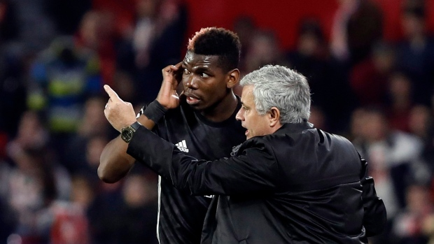 Paul Pogba and Jose Mourinho