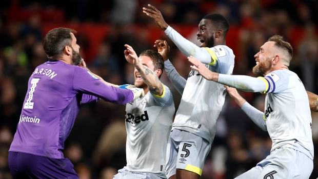 Derby County fans react to Richard Keogh's performance against Manchester United