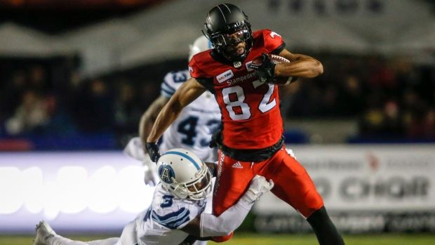 0ee2d1940ca Stampeders clinch playoff spot with rout of Argonauts - TSN.ca
