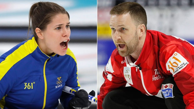 Anna Hasselborg and Brad Gushue