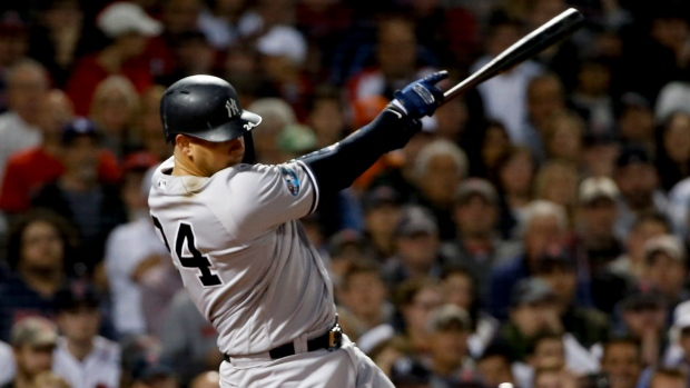 bed1c3b8f Sanchez powers Yankees past Red Sox to even ALDS - TSN.ca