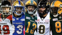 Bo Levi Mitchell/Andrew Harris/Mike Reilly/Jeremiah Masoli/Duke Williams