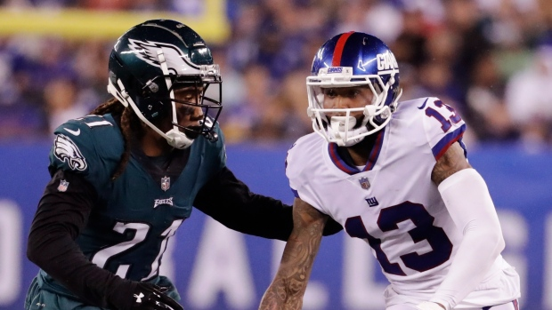 0a9edee85 Beckham makes scene as Giants fall to Eagles - TSN.ca
