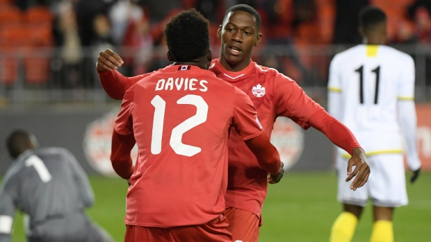 Jonathan David and Alphonso Davies