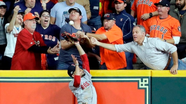 Astros fan denies interfering with Betts' catch