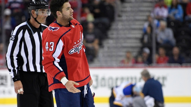 Tom Wilson of Washington Capitals has 20-game suspension upheld