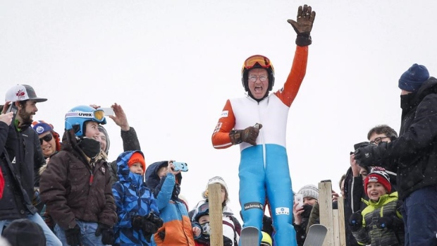 'Eddie the Eagle' among Olympians cheering for a Calgary 2026 bid at rally Article Image 0